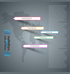 business paper infographic maps and world vector image
