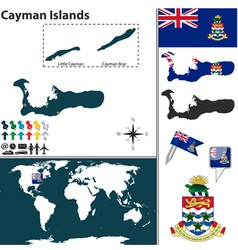 Cayman Islands map world vector