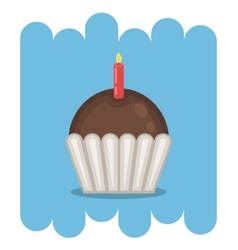 Chocolate muffin icon vector