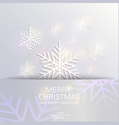 christmas and new year card template vector image
