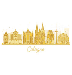 cologne germany city skyline silhouette vector image