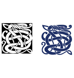 Complex celtic symbol great for tattoo vector