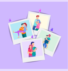 concept of family photography memorable vector image