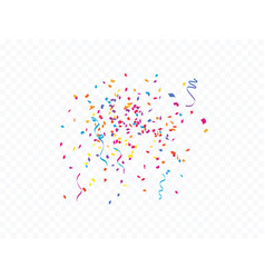 confetti and colorful ribbons concept vector image