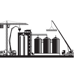 Construction of grain silo vector