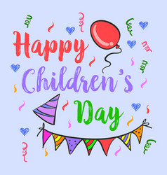 Doodle of childrens day background vector
