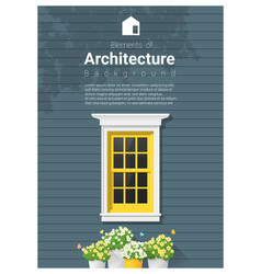 elements of architecture window background 13 vector image