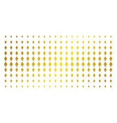 ethereum crystal golden halftone array vector image