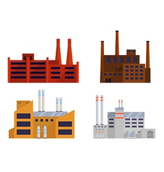 factory color set vector image