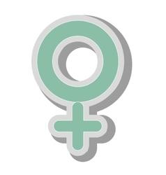 Female gender symbol icon vector image