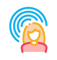female hearing icon outline vector image