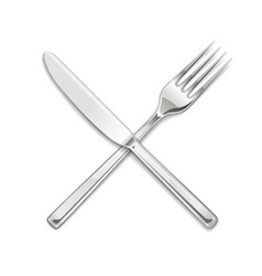 Fork knife set utensils vector