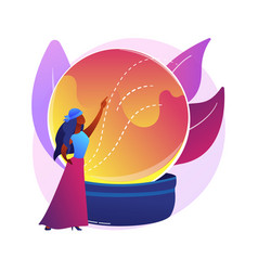 Fortune telling abstract concept vector