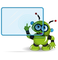 Green Robot and Screen vector image