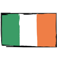 grunge ireland flag or banner vector image