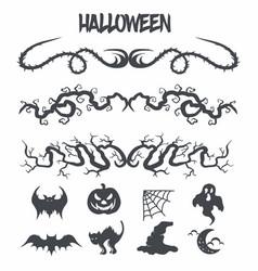 halloween decoration vector image