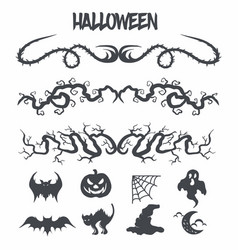 halloween set decoration vector image