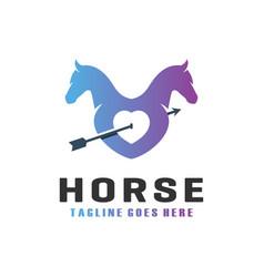 horse lovers modern logo vector image