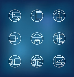 Information fransfer concept icons collection vector image