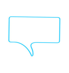 isolated empty bubble chat vector image