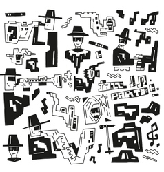 jazz party doodles vector image