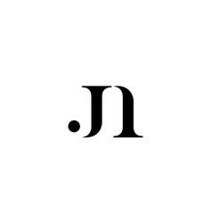 letter j and number 1 logo design concept vector image