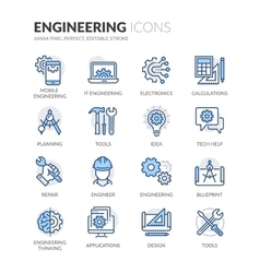 Line Engineering Icons vector