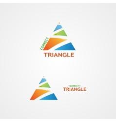 Logo with a creative triangle logo vector
