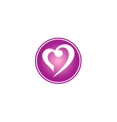 love abstract valentine logo vector image