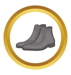Mens winter boot icon vector