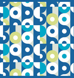 Mid century retro geometric seamless pattern vector