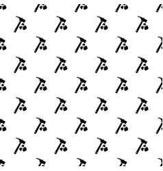 minning hand hammer pattern seamless vector image