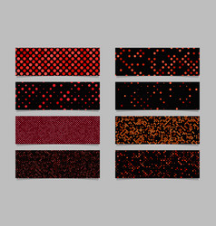 Modern red dot pattern banner background template vector