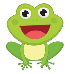 Of cartoon frog vector
