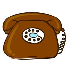 old retro telephone on white background vector image