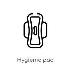 Outline hygienic pad icon isolated black simple vector