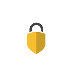 padlock graphic design template isolated vector image