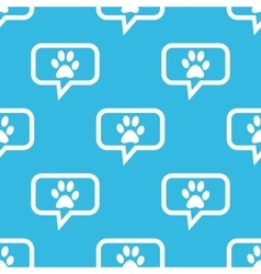 Paw message pattern vector