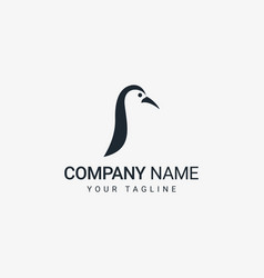 penguin logo template vector image