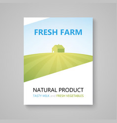 Poster of advertising booklet for farm company vector