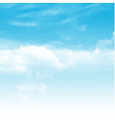 Realistic blue sky background vector