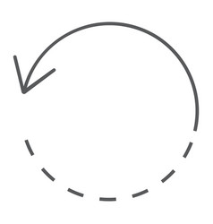 Rotate thin line icon tools and design circle vector
