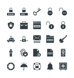 Security Cool Icons 2 vector