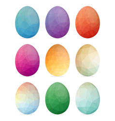 Set of easter eggs with different texture on a vector