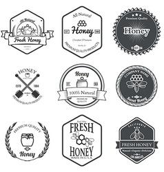 Set of Honey Labels Design Elements vector image