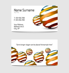Set of modern business card templates vector image