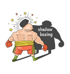 shadow boxing comic vector image