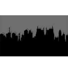 Silhouette historic town vector