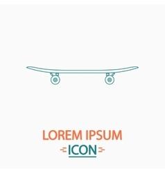 Skateboard computer symbol vector