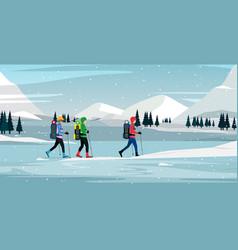 snow climber vector image